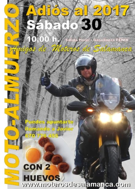 """MOTO ALMUERZO """"CON 2 HUEVOS"""" ADIOS AL 2017"""