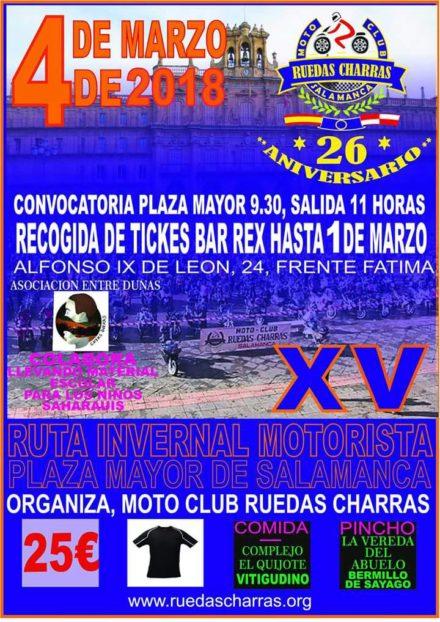 RUTA INVERNAL MOTORISTA Ruedas Charras