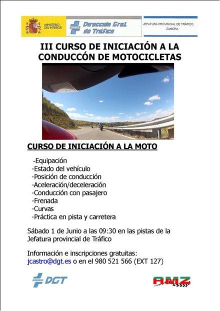 III CURSO DE INICIACION A LA CONDUCCIÓN DE MOTOCICLETAS