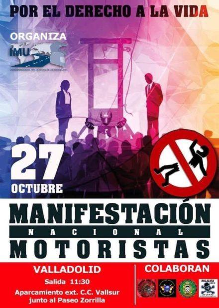 Manifestación Nacional de Motoristas en Valladolid